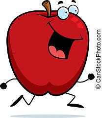 correndo, mela