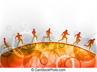 correndo, rosso
