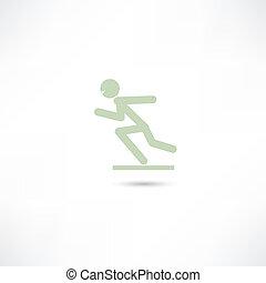 correndo, uomo