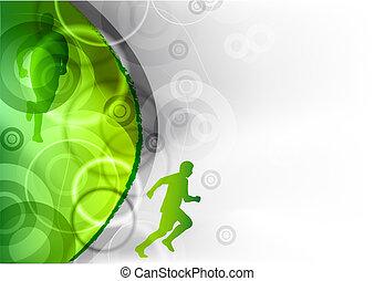 correndo, verde
