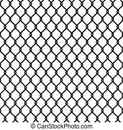 corrente, cerca, padrão, papel parede, seamless, textura, link