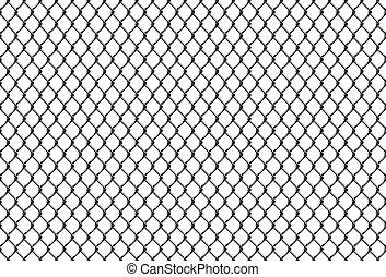 corrente, cerca, padrão, seamless, link, rabitz