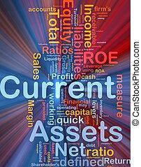 corrente, glowing, conceito, ativos, fundo