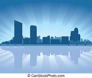 correntezas, michigan, skyline, grandioso
