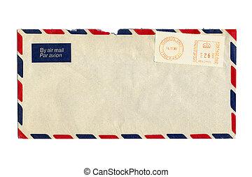 correo aéreo, carta, con, reino unido, matasellos