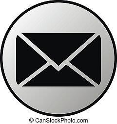 correo, botón