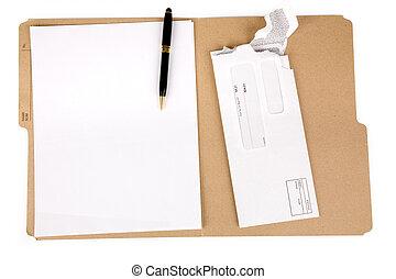 correo, carpeta, archivo