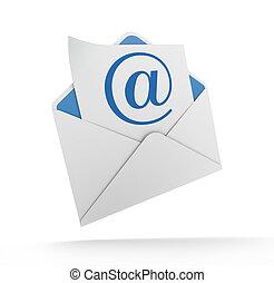 correo e, y, sobre
