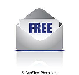 correo, libre, ilustración
