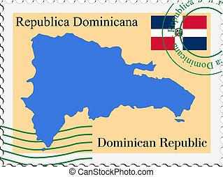correo, república, to/from, dominicano