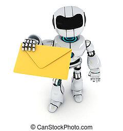 correo, robot