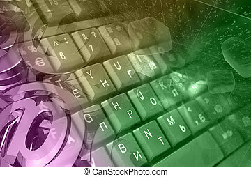 correo, teclado, señales