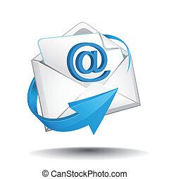 correo, vector