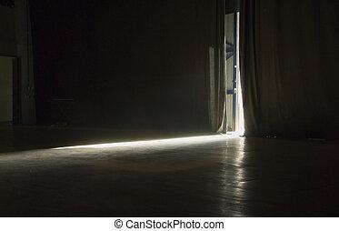 correr, luz