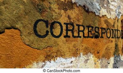 correspondance, concept, grunge