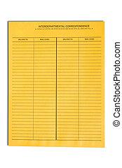 correspondance, enveloppe, interdépartemental, vide