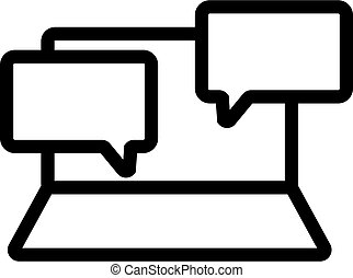 correspondence icon vector. Isolated contour symbol illustration
