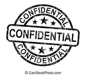 correspondencia, documentos, confidencial, estampilla, privado, o, exposiciones