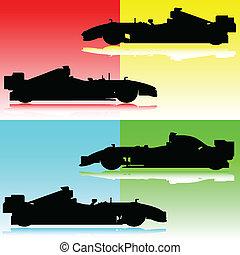 corrida carro, ilustração
