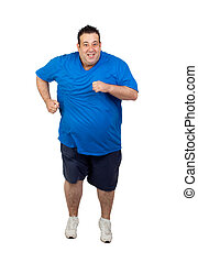 corrida homem, gorda