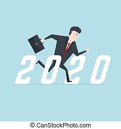 corrida homem negócios, 2020., sucesso