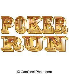 corrida, pôquer, arte, clip