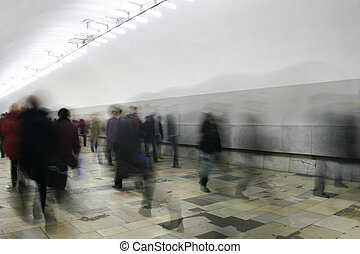 corridoio, folla, astratto