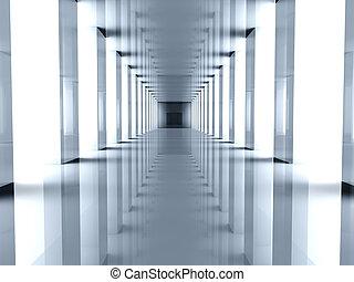 corridoio, futuristico