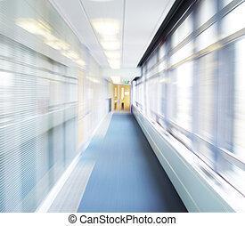 Corridor - Blurred corridor with door at end