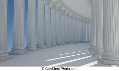 corridor column - abstract corridor