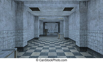 Corridor - 3D CG rendering of the corridor.