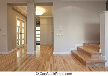 Corridor, entry, staircase