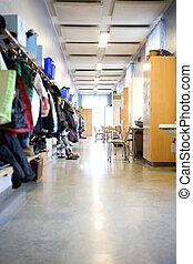 Corridor in a Elementary school
