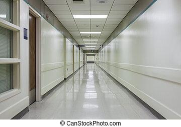 Corridor in a modern hospital. - A corridor in a nice, ...