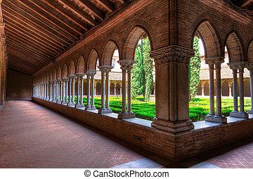 Corridor insde Eglise des Jacobins or Church of the Jacobins...