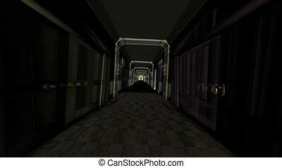corridor - inside of european-style building