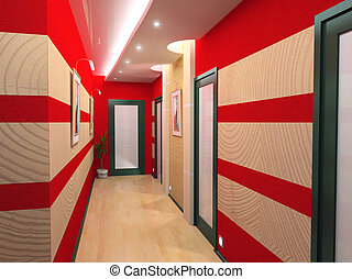 corridor interior - modern corridor interior image (3D...