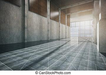 Corridor interior side