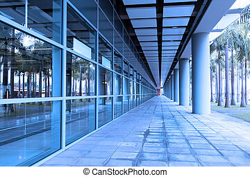 Corridor of a train station