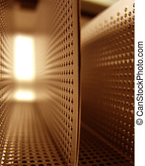 Corridor of Holes - Abstract Background