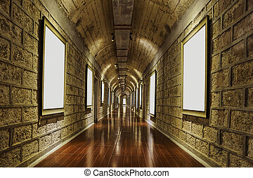 corridor of wine storage basemen