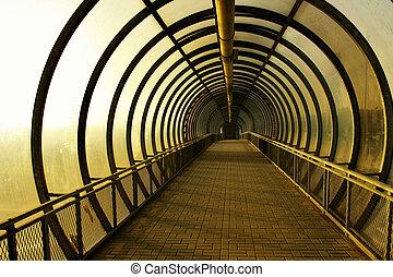 Corridor - Perspective of the gloomy corridor