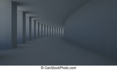 corridor pillar - abstract corridor