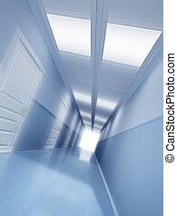 Corridor - Long corridor with  effect of motion blur
