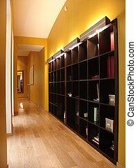 corridor with big shelving