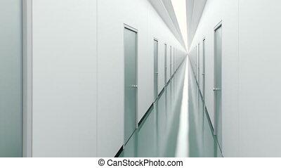 Corridor with doors.