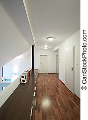 Corridor with white walls in apartment