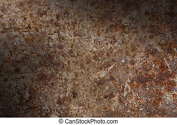 Corroded and rusty surface lit diagonally