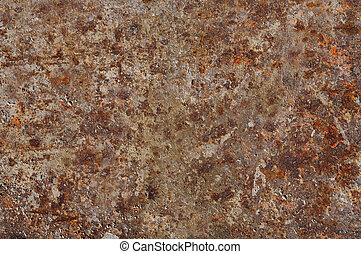 Corroded and rusty surface