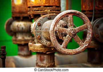 corrosão, de, a, metal, válvula
